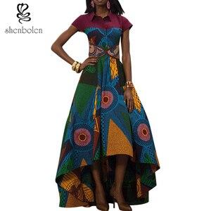 African Dresses for Women Dashiki Ankara Style Batik Wax Printing Party Dress Lady Grace Evening Dress Maxi Dress