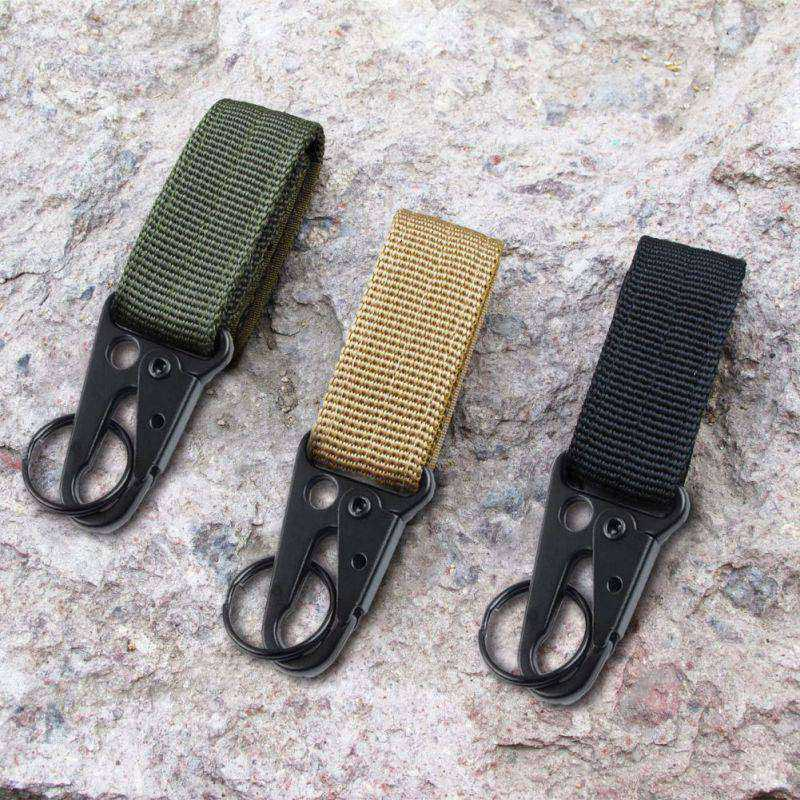2 PCS Nylon Belt Keychain, Gear Keeper Pouch, Key Ring Holder, Compatible with Molle Bags, perfect webbing attachment strap