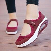LEOCI новый для женщин свет Air кроссовки летние обувь с дышащей сеткой Женские Спортивная обувь Кроссовки Прогулки Открытый Спорт Удобные