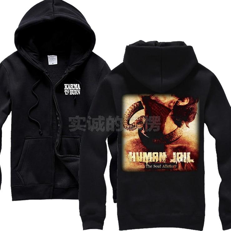 US $38.99 |5 styles Skull Karma To Burn Band Cotton Warm Rock Hoodie Winter jacket punk hardrock death heavy metal sudadera Sweatshirt in Hoodies &