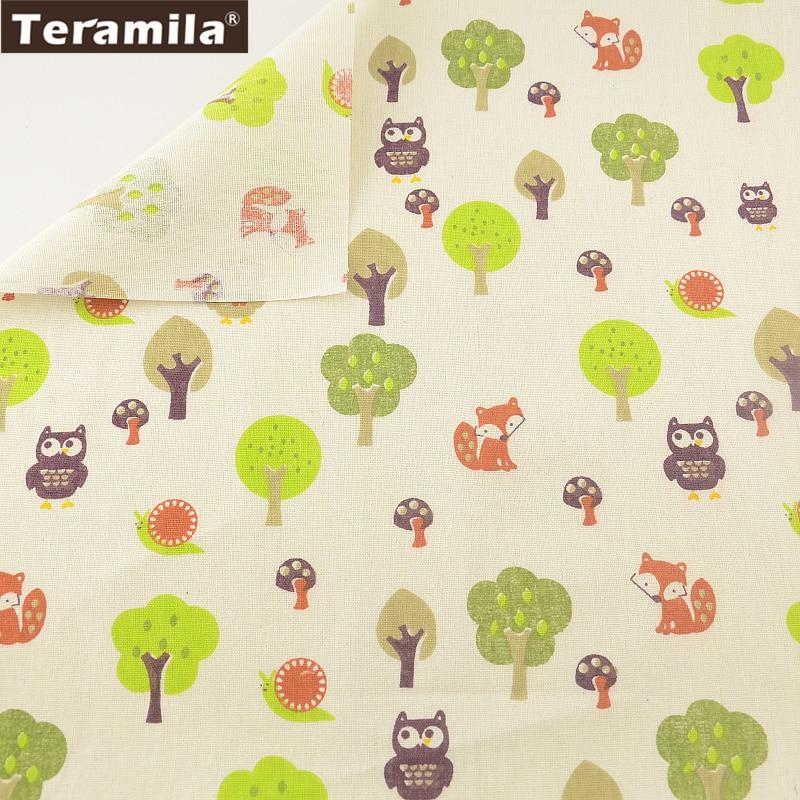 Los animales y los árboles bolsa de cortina de material de costura de la tela ma