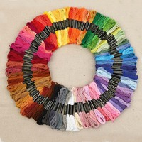 430 Colors Polyester Embroidery Thread Cross Stitch Thread Pattern Kit Embroidery Floss Sewing Skein 447 Pcs/Set TB Sale