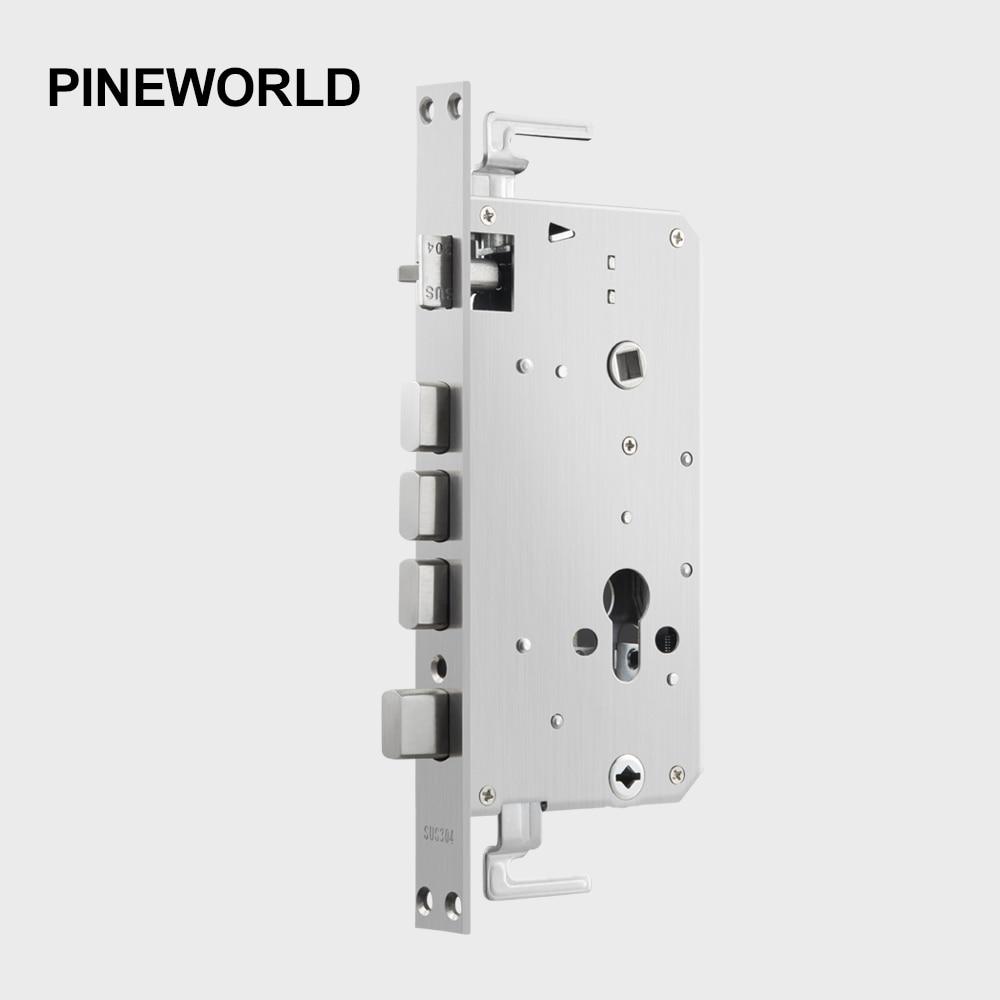 PINE WORLD 6068 Lock Body Stainless Steel Lock Hardware Accessories Anti-Theft Lockcase Fittings