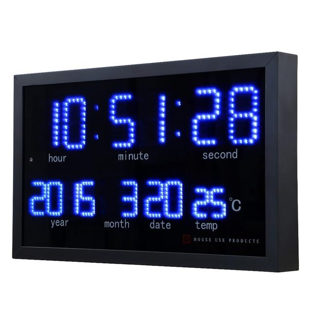 Large Digital Wall Clock Modern Design Living Room Decoration Electronic LED Calendar Clocks Wall Watch Home Decor Silent
