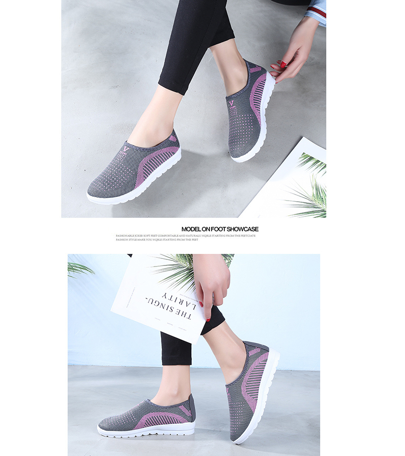 Mesh women sneakers Breathable Slip On casual shoes women fashion comfortable Summer Flat Vulcanize Shoes Zapatos Mujer VT248 (7)