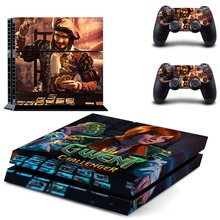 Game The Witcher 3 Gwent Challenger PS4 Skin Sticker Decal Vinyl for Playstation 4 Console and 2 Controllers PS4 Skin Stickers