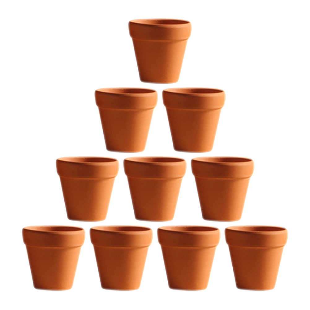 10Pcs Small Mini Terracotta Pot Clay Ceramic Pottery Planter Cactus Flower Pots Succulent Nursery Pots Great