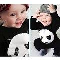 Bebê Roupas 2016 Bebé Novo Produto Bonito Panda Roupas Recém-nascidos Romper Macacões Manga Longa Infantil Macacão de Bebê Menino de Verão