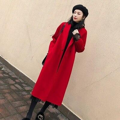 Coréenne Genou Le Paragraphe Populaire Lâche Manteau Long 1 Nouvelle Laine 2 De Mince Version Mode La Sur 7RwBxUqt
