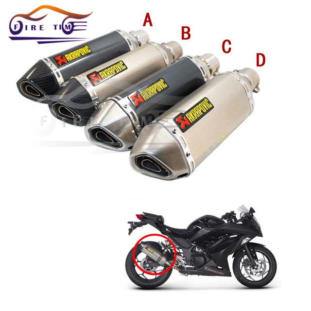 New Brand Mortobike Parts 4 Type Motorcycle Modified Exhaust Scooter Muffler Akrapovic Pipe For HONDA