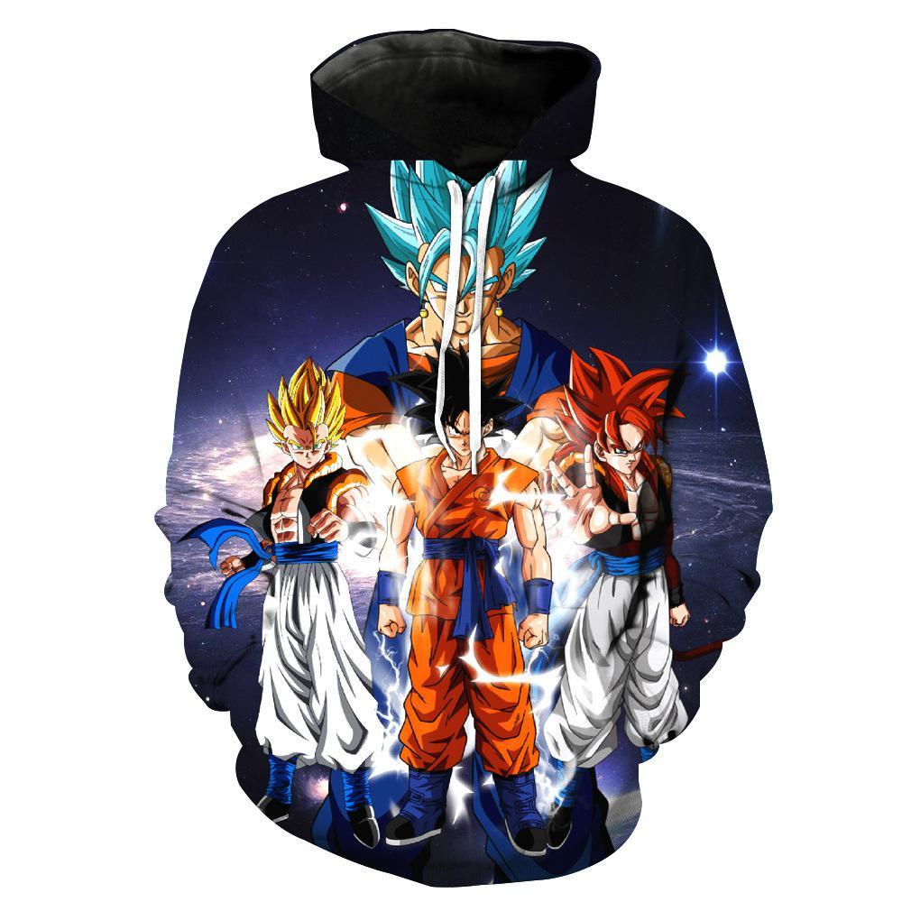 New Dragon Ball Z Hoodies 3D Goku Vegeta Sweatshirt Men Women Funny Tracksuit 2019 Fashion Hoodie Streetwear Casual Men Clothing