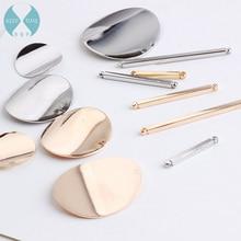 Minimalist diy dual hole connection rod wafer handmade earrings stud earrings earrings accessories tassel accessories