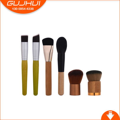 6 Make-up Brush Sets, Make-up Tools, Beauty Foundation Brush, Bamboo Handle Brush, Loose Powder Brush, GUJHUI тушь make up factory make up factory ma120lwhdr04