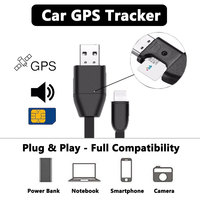 2 in 1 Vehicle GPS Smart Activity Tracker Car Locator Tracking Alarm Devices USB Cable Charger Sound GSM GPRS for iPhone Android