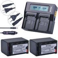 2Pcs 5200mAh VW VBD58 VBD29 VBD58 VBD78 Batteries + Rapid LCD Dual Charger Kits for Panasonic AJ HPX260MC,HPX265MC,PX270,PX280MC