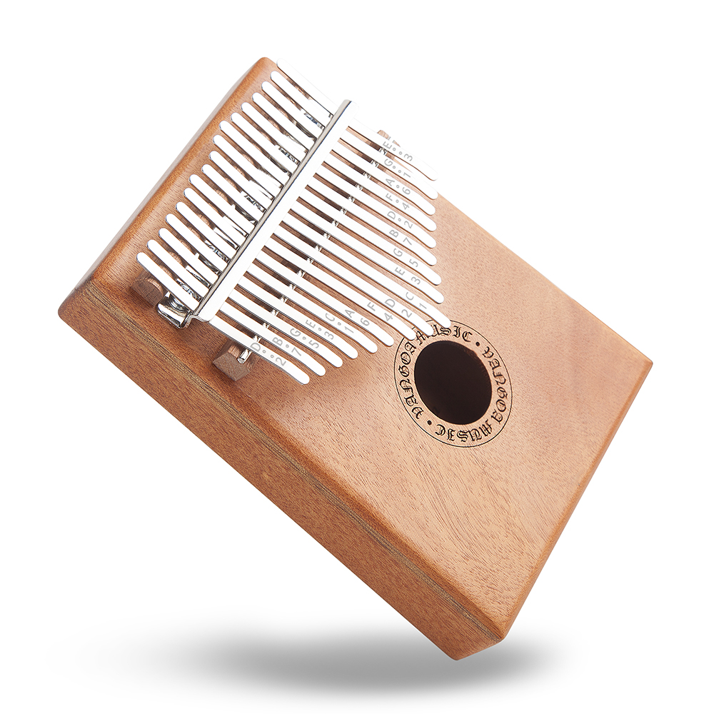 Pickup and Key stickers Cloth bag Tuning Hammer Vangoa Kalimba 17 keys African Thumb Piano kit with Rubber Finger Guards Carry Bag