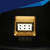 Pop socket /Tabletop socket/hidden/ Damping spring open Information outlet /Office conference room desktop socket
