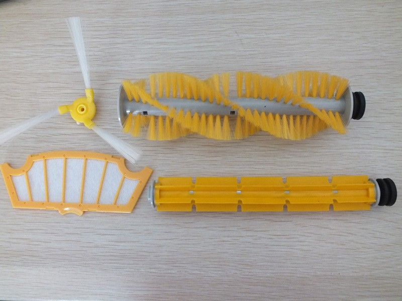(For modelA320/A325/A330/A335/A336/A337/A338) Spare part for Robot Vacuum Cleaner,Hair Brush,Rubber Brush,Side Brush,HEPA Filter for cleaner a320 a325 a330 a335 a336 a337 a338 spare part for robot vacuum cleaner adapter charger