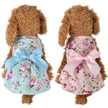 Летнее приталенное платье-рубашка с галстуком-бабочкой для собак, кошек, щенков, Новое поступление, Прямая поставка 29