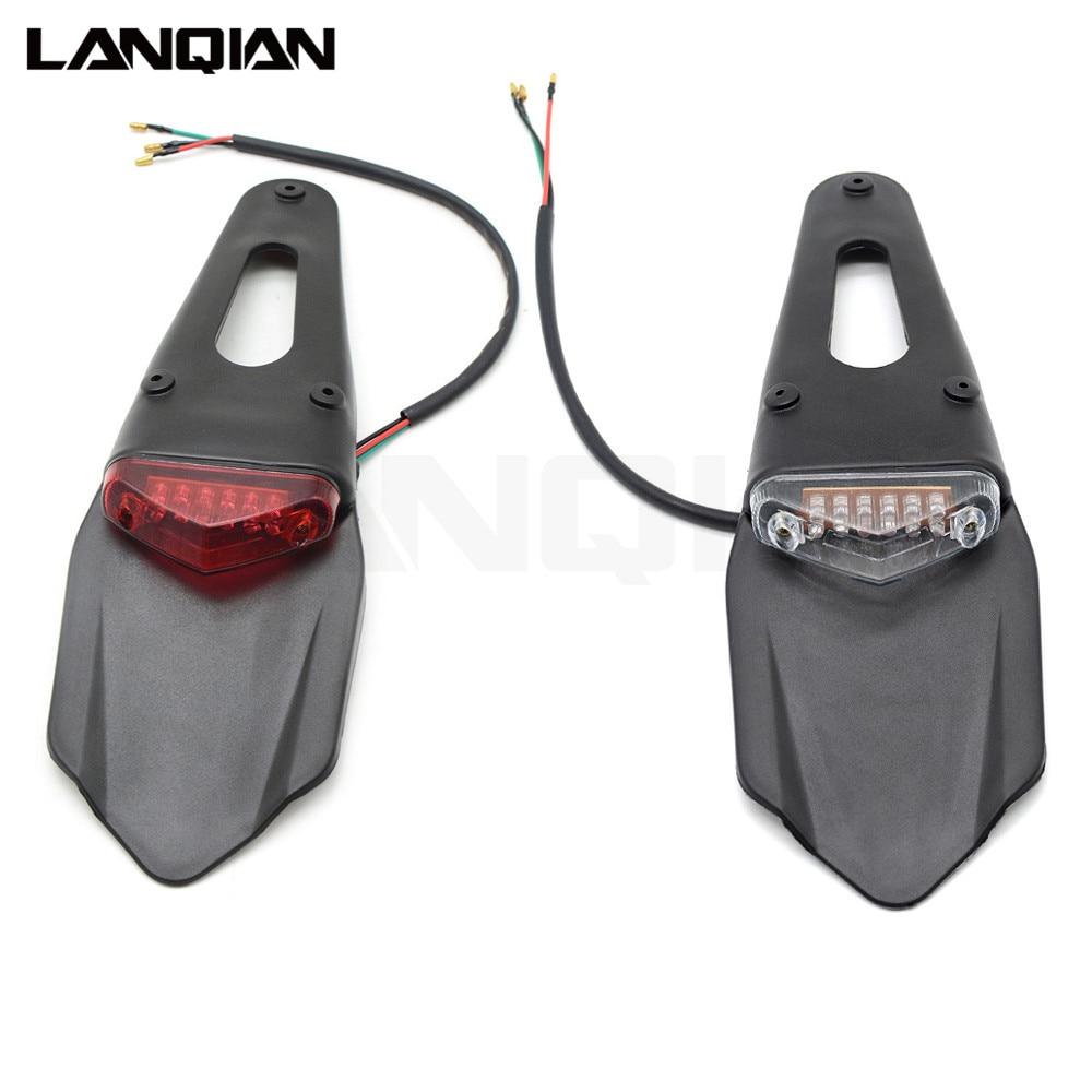 KTM CR EXC WRF 250 400 426 450 motorkerékpár hátsó lámpa Motorkerékpár kerékpár hátsó sárvédő hátsó lámpa megáll