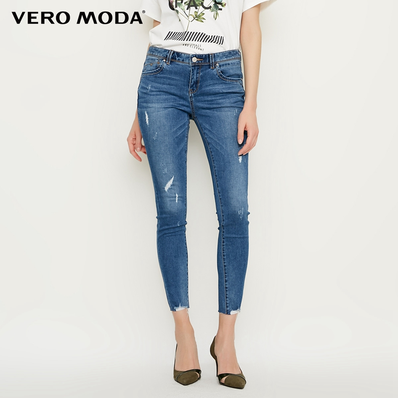 Vero Moda spring new slim cropped   jeans   women|318149573