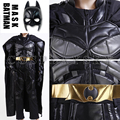Бэтмен Костюм Темный Рыцарь Arkham Asylum Коллектор Косплей Пользовательских Полные Комплекты