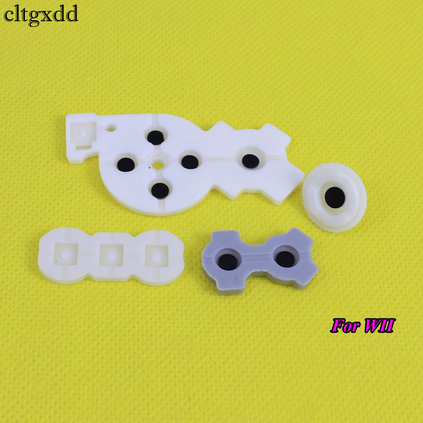 Cltgxdd 1Set For WII Pro WIIU Pad Conductive Rubber Adhesive Button Pad Set For Nintendo DS Lite DSL SNES NES For 3DS 3DSXL LL