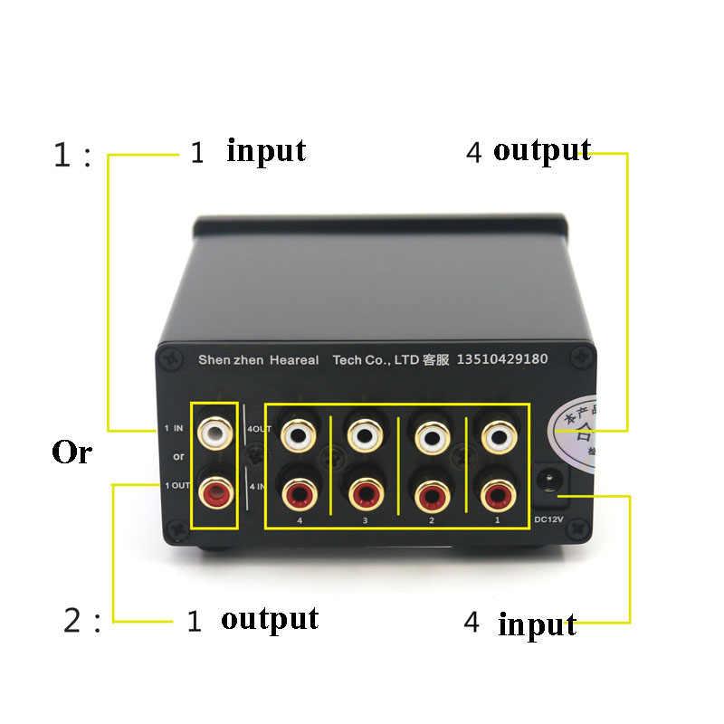 4 wejście 1 wyjście/1 wejście 4 wyjście dwukierunkowy gorączka audio sygnał bezstratnego przejsciówka selektor z RCA AC100V-240V