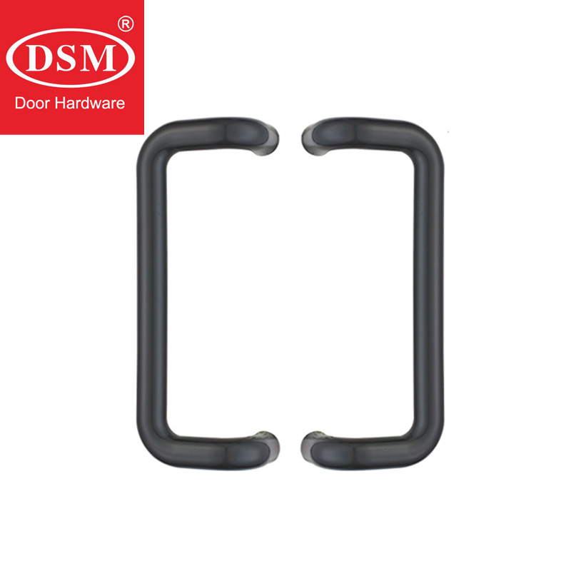Antimicrobial Black Solid Nylon Offset Door Pull Handle For Entrance Glass,Wooden,Metal Frame Doors PA-797 antimicrobial environmental wood pull handle pa 710 entrance door handles for entry glass shop store doors