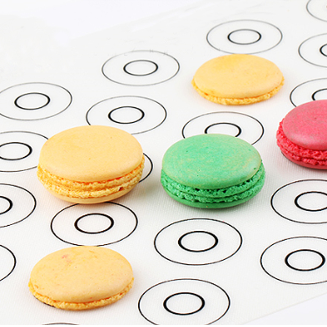 Silicone Dough Mat Macaron Pastry Oven Baking Sheet Tray Liner Cake Mold Pad !