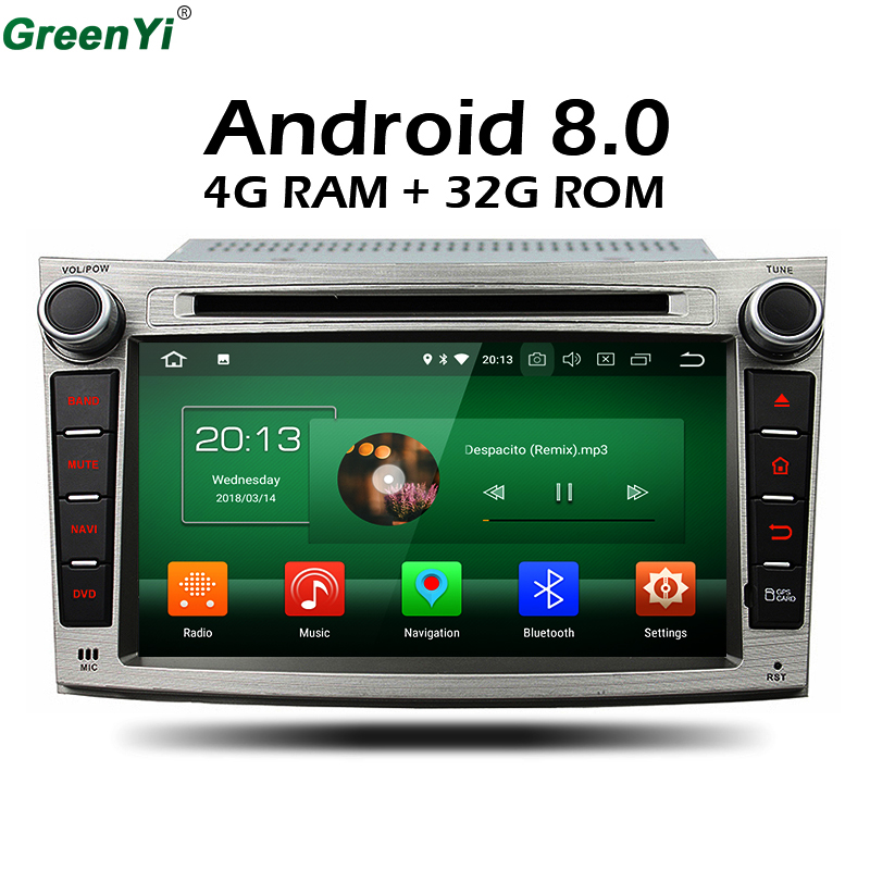 4GB RAM Octa Core Android 8.0 Stereo Radio Car DVD GPS For Subaru Outback Legacy 2009 2010 2011 2012 Car TV Multimedia Head Unit joying hd 9 screen multimedia player 4gb ram octa core android 8 1 car dvd gps navigator radio for subaru forester 2008 2012