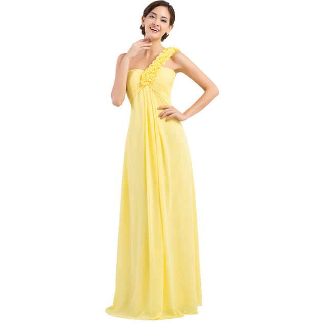 Plus Size Evening Dresses Grey Yellow Blue Red Formal Dress One ...