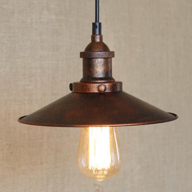 pendant lighting industrial style. loft vintage rust color pendant lamp e27 iron metal retro northern europe industrial style edison lighting l