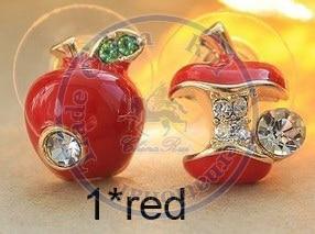 Stud Earrings ear rings Fashion for women Girls lady fruits cystal rhinestone desgin CN post
