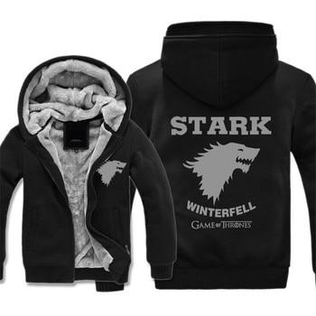 Brand 3D Hoodies Game of Thrones Sweatshirts Men Winter thicken Sportswear Casual