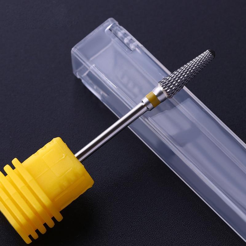 Cortador de brocas para uñas Cuspidal Grinding Head Pedicure Machine Machine Nail Art UV LED Herramienta de gel para piel muerta