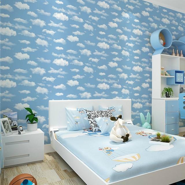 Blau himmel Wolke Kinderzimmer Tapete Tapeten für wand vlies Papel ...