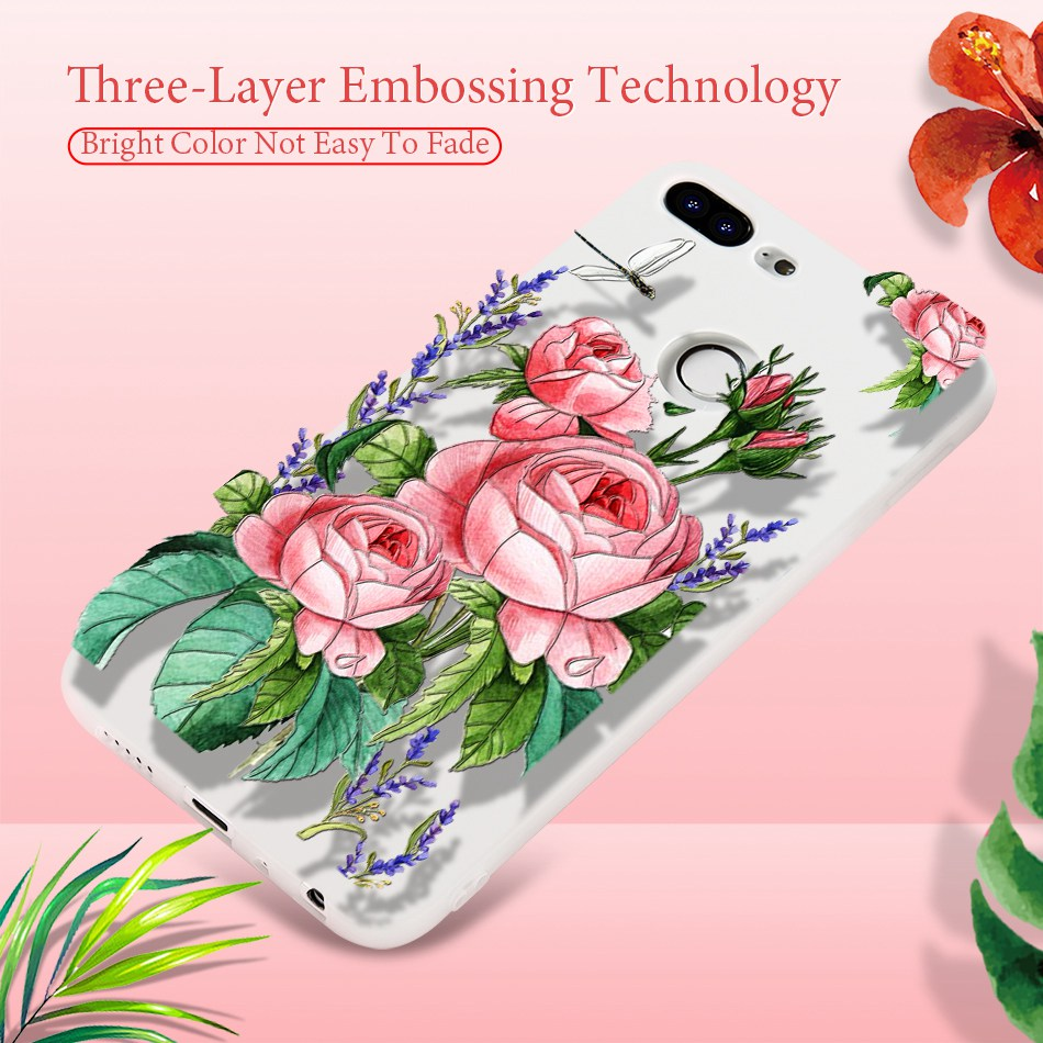 3D Relief Flower TPU Case For On Honor 9 9 lite Soft Silicone Case Back Cover Case for Huawei P20 P10 lite NOVA 2 Case           (4)