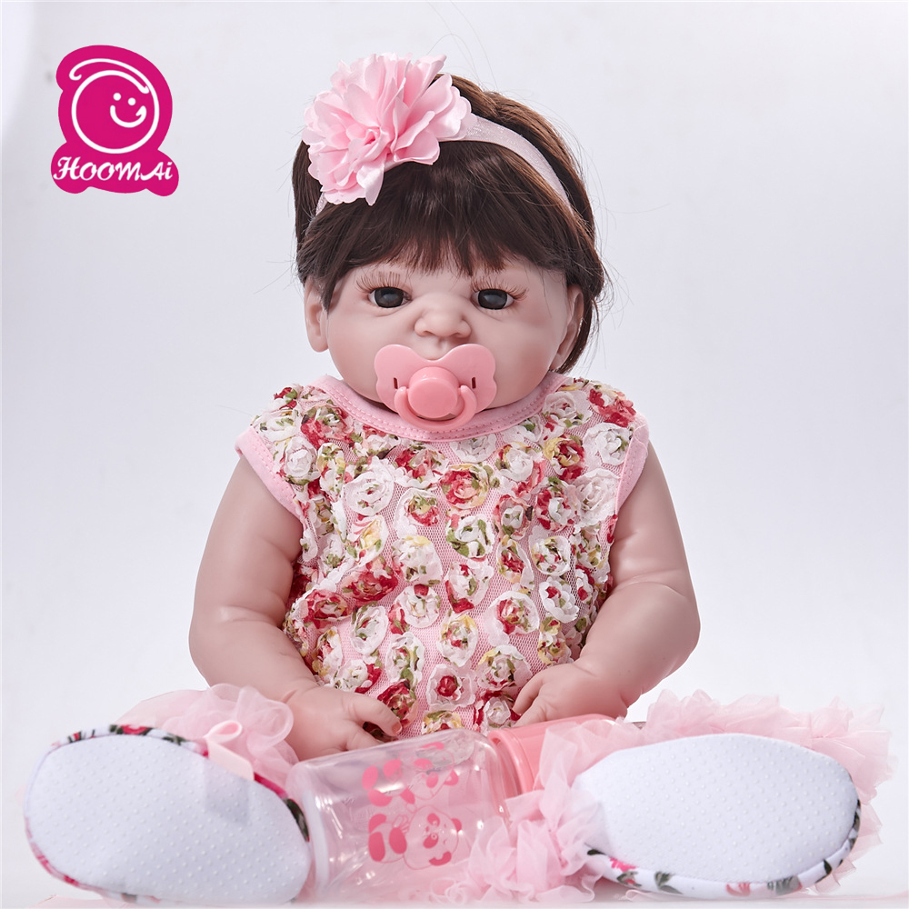 New Arrival 55cm Reborn Babies Dolls Full Vinyl Toys for Girls Alive Bebe Reborn Baby Toys Doll for Playhouse GiftNew Arrival 55cm Reborn Babies Dolls Full Vinyl Toys for Girls Alive Bebe Reborn Baby Toys Doll for Playhouse Gift