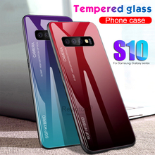On The Samsun Glaxy S 10 S10 Plus E Case Gradient Tempered Glass Phone Case For Samsung Galaxy S10Plus S10E 10S + Cover Cases For Samsung Galaxy Gelaxi Note 10Plus 10+ Note 10 Note10 Note10+ Coque Fundas