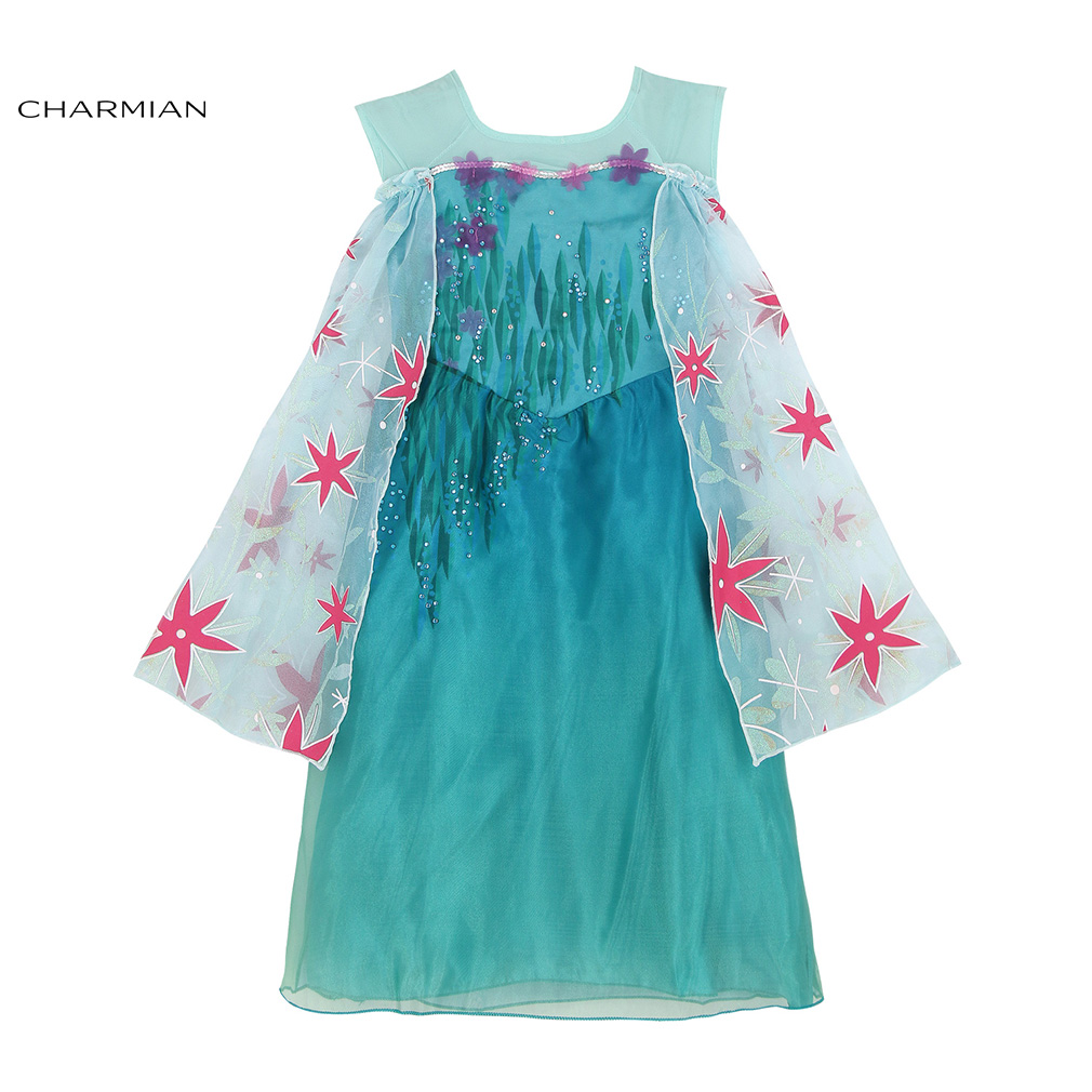 Charmian Princess Dress Halloween Costume for Girls Princess Cosplay Evening Party Fancy Dress Carnival Costume Clothing