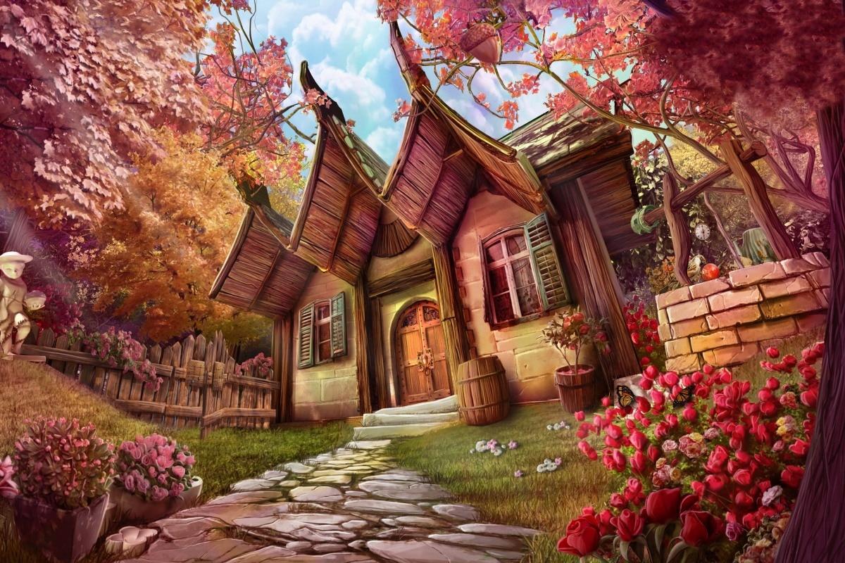 Картинки на телефон цветущие деревья фиалки