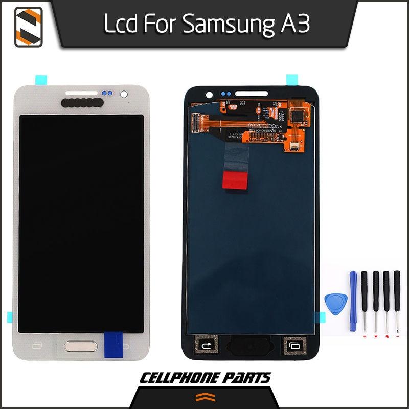 ФОТО LCD Display for Samsung Galaxy A3 2015 A300 A3000 A300X A300F A300F/DS A300FU A300H A300M Display Touch Screen Digitizer Repair