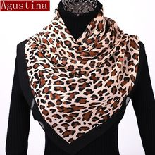 Chiffon scarf women sjaal poncho scarves scarfs winter hijab shawl leopard print animal brand luxury satin ponchos and capes new(China)