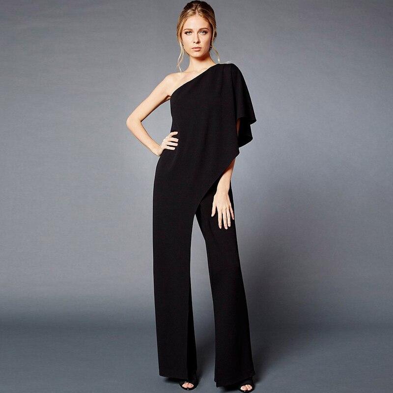 c96c0403d893 € 18.52 23% de DESCUENTO Aliexpress.com: Comprar Cuello barra mujer prendas  blanco largo pantalones de pierna ancha barra sólido cuello mono ...