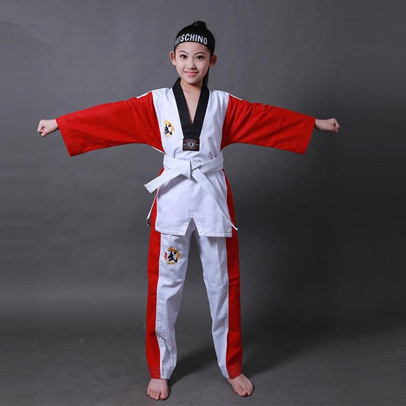 W17 homme femme enfant enfants respirant coton Taekwondo uniforme WTF approuvé Taekwondo Dobok vêtements uniformes