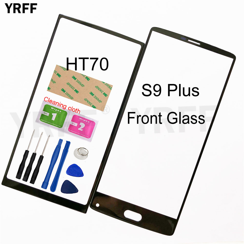 Mobile Front Panel Glass For Homtom HT70 S9 Plus Front Glass Outer Glass Cover Panel Replacement