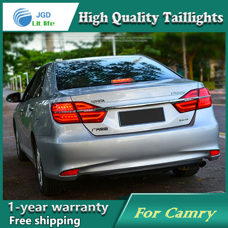 Car Styling Tail Lamp for Toyota Camry 2015 taillights Tail Lights LED Tail Light Rear Lamp LED DRL+Brake+Park+Signal Stop Lamp гель лак для ногтей sally hansen miracle gel 680 цвет 680 rhapsody red variant hex name b4052c