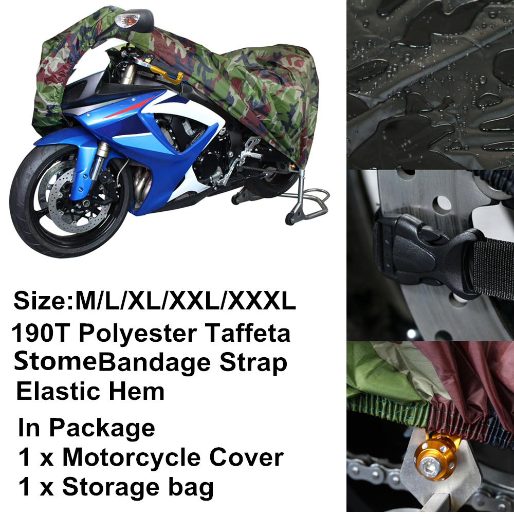 X AUTOHAUX Black Outdoor Waterproof Rain Dust UV Protector Motorcycle Scooter Half Cover XL