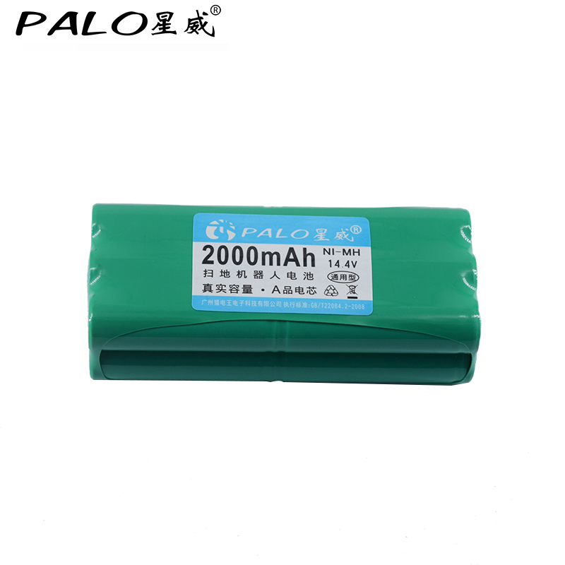 PALO new type of battery 14 4V Ni MH 2000 mAh Robot vacuum cleaner rechargeable battery